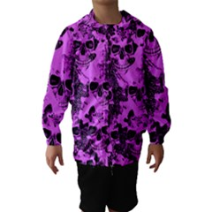Cloudy Skulls Pink Hooded Wind Breaker (Kids)