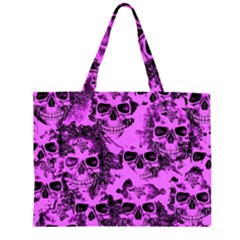 Cloudy Skulls Pink Large Tote Bag