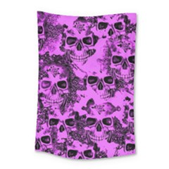 Cloudy Skulls Pink Small Tapestry