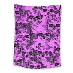 Cloudy Skulls Pink Medium Tapestry