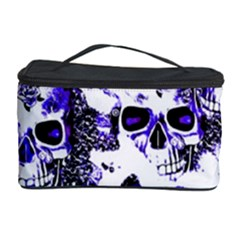 Cloudy Skulls White Blue Cosmetic Storage Case