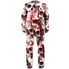 Cloudy Skulls White Red OnePiece Jumpsuit (Men)