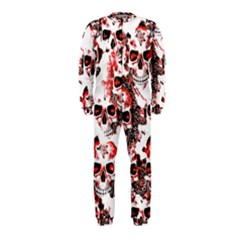 Cloudy Skulls White Red OnePiece Jumpsuit (Kids)