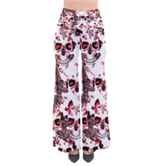 Cloudy Skulls White Red Pants