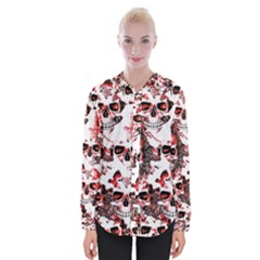 Cloudy Skulls White Red Shirts