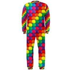 Colorful 3d Rectangles           Onepiece Jumpsuit (men)