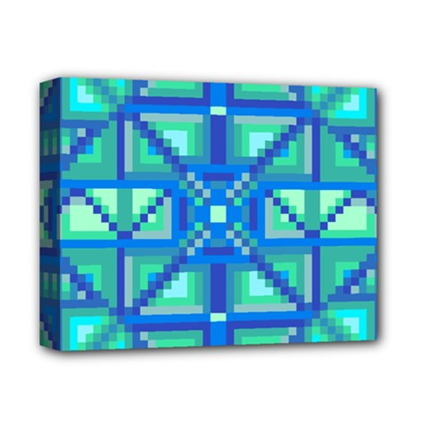 Grid Geometric Pattern Colorful Deluxe Canvas 14  x 11