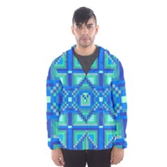 Grid Geometric Pattern Colorful Hooded Wind Breaker (men)