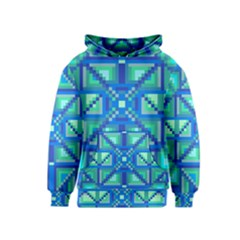 Grid Geometric Pattern Colorful Kids  Pullover Hoodie