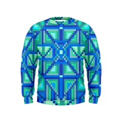 Grid Geometric Pattern Colorful Kids  Sweatshirt