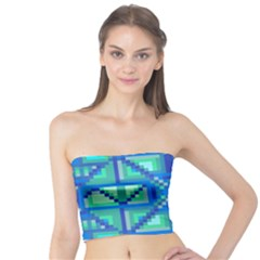 Grid Geometric Pattern Colorful Tube Top