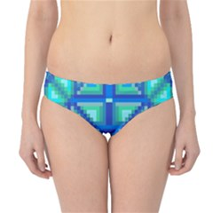 Grid Geometric Pattern Colorful Hipster Bikini Bottoms