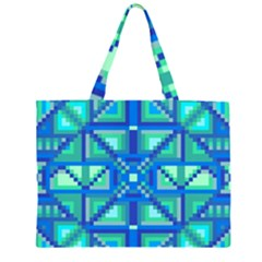 Grid Geometric Pattern Colorful Large Tote Bag