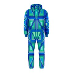 Grid Geometric Pattern Colorful Hooded Jumpsuit (Kids)