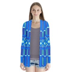 Grid Geometric Pattern Colorful Cardigans