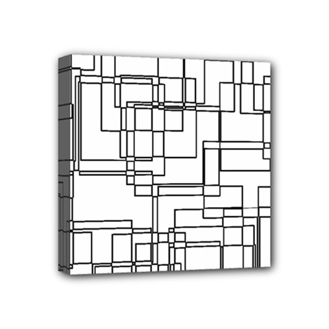 Structure Pattern Network Mini Canvas 4  x 4