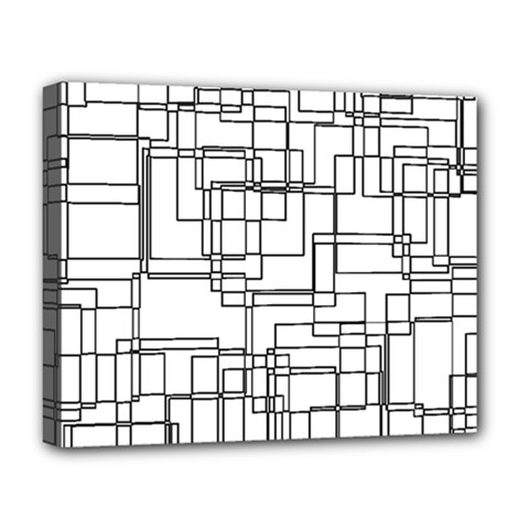 Structure Pattern Network Deluxe Canvas 20  x 16