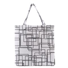 Structure Pattern Network Grocery Tote Bag