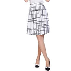 Structure Pattern Network A-Line Skirt