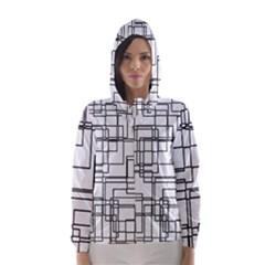 Structure Pattern Network Hooded Wind Breaker (women)