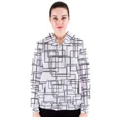 Structure Pattern Network Women s Zipper Hoodie