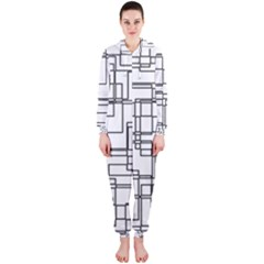 Structure Pattern Network Hooded Jumpsuit (ladies)