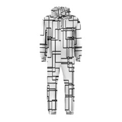 Structure Pattern Network Hooded Jumpsuit (kids)