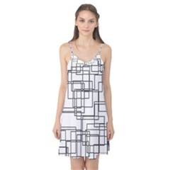 Structure Pattern Network Camis Nightgown