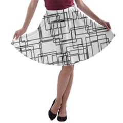Structure Pattern Network A Line Skater Skirt
