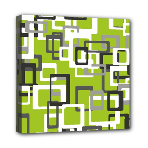 Pattern Abstract Form Four Corner Mini Canvas 8  X 8
