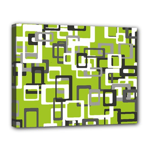 Pattern Abstract Form Four Corner Canvas 14  x 11
