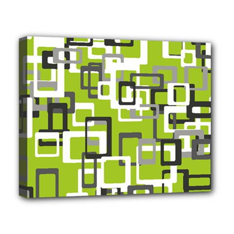 Pattern Abstract Form Four Corner Deluxe Canvas 20  X 16
