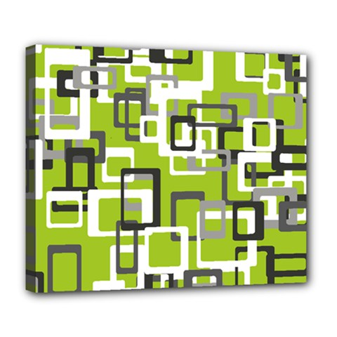 Pattern Abstract Form Four Corner Deluxe Canvas 24  X 20