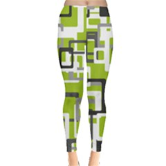 Pattern Abstract Form Four Corner Leggings
