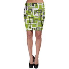 Pattern Abstract Form Four Corner Bodycon Skirt