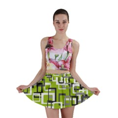 Pattern Abstract Form Four Corner Mini Skirt