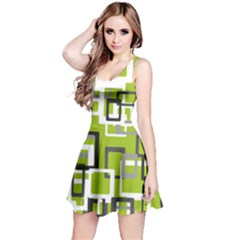 Pattern Abstract Form Four Corner Reversible Sleeveless Dress