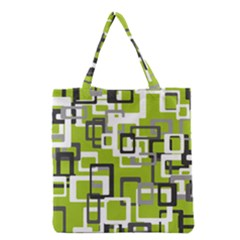 Pattern Abstract Form Four Corner Grocery Tote Bag