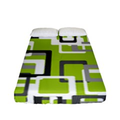 Pattern Abstract Form Four Corner Fitted Sheet (full/ Double Size)