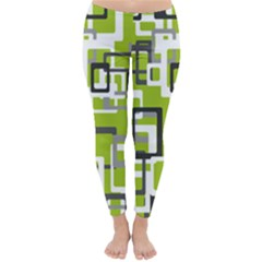 Pattern Abstract Form Four Corner Classic Winter Leggings