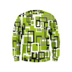 Pattern Abstract Form Four Corner Kids  Sweatshirt