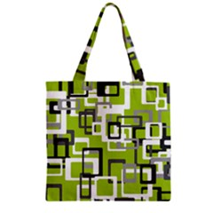 Pattern Abstract Form Four Corner Zipper Grocery Tote Bag