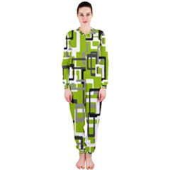 Pattern Abstract Form Four Corner Onepiece Jumpsuit (ladies)