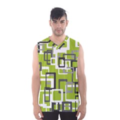 Pattern Abstract Form Four Corner Men s Basketball Tank Top