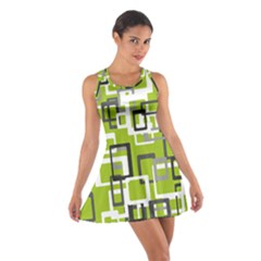 Pattern Abstract Form Four Corner Cotton Racerback Dress