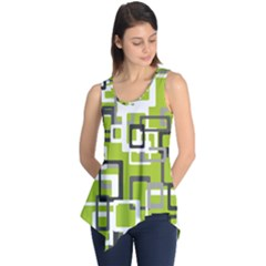 Pattern Abstract Form Four Corner Sleeveless Tunic