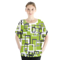 Pattern Abstract Form Four Corner Blouse