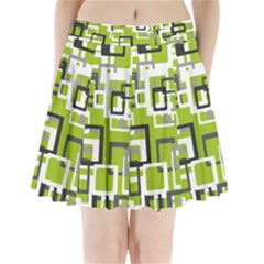 Pattern Abstract Form Four Corner Pleated Mini Skirt