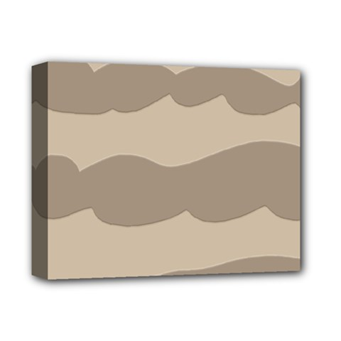 Pattern Wave Beige Brown Deluxe Canvas 14  X 11