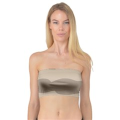 Pattern Wave Beige Brown Bandeau Top